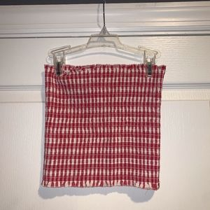 Red and White Tube Top